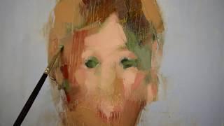 Alla Prima Portrait In The Studio / Oil Painting