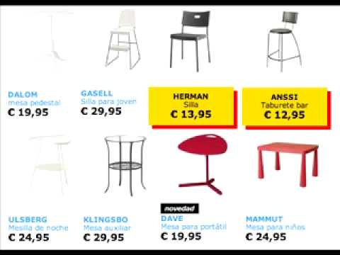 Sillas y mesas Ikea - YouTube