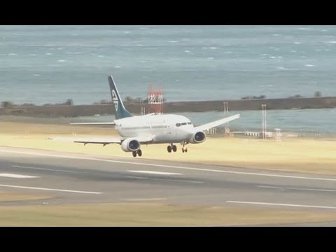 Extreme Landings At Wellington NZ July 3 2013