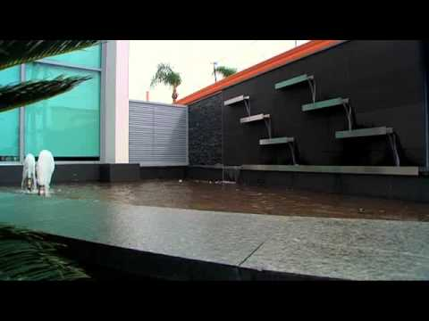Living Water Designs - Stainless Steel Wall Troughs & Pond with Foaming Jets