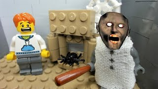 GRANNY LEGO THE HORROR GAME ANIMATION: Scary Granny and the Spider Pet