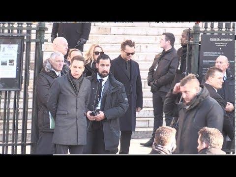 Alexandre Benalla at Johnny Hallyday Funerals in Paris