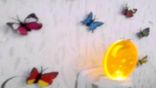 Наклейки объемных декоративных 3D (3д) бабочек на стене для декора(, 2015-02-12T11:27:15.000Z)