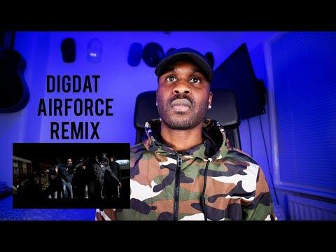 DigDat - Air Force (ft. K Trap, Krept & Konan) (Remix) Music Video GRM Daily [Reaction] | LeeToTheVI