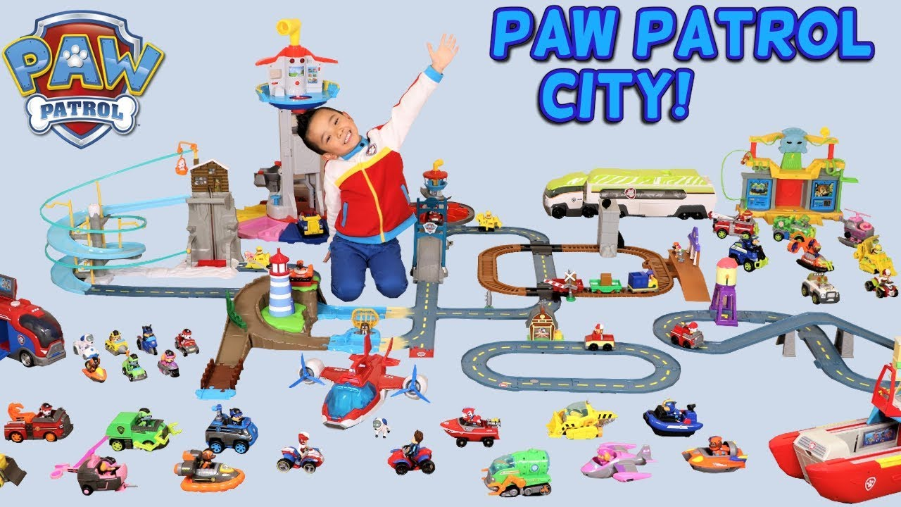 Paw Patrol Kids Toy Organizer Bin Children S Storage Box: BIGGEST PAW PATROL CITY !! Ckn Toys