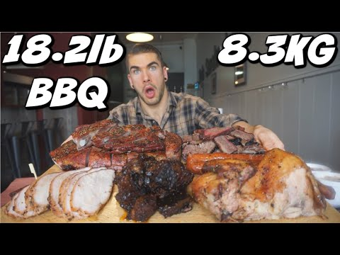 WORLDS BIGGEST BBQ CHALLENGE | CRAZY TEXAS BBQ Menu Challenge | Man Vs Food | Beach Hill Smoke House