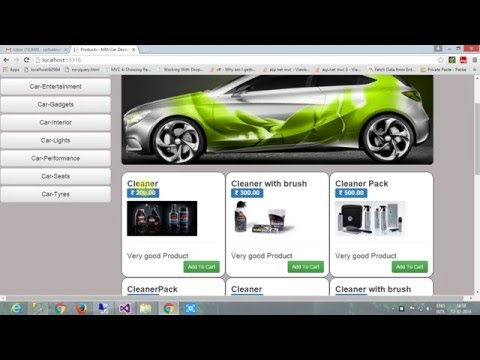 E commerce project for car products