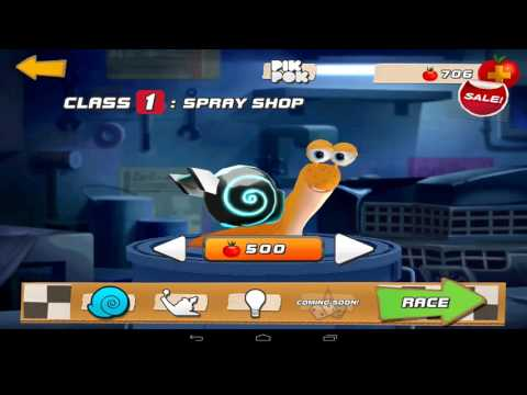 Dreamworks Turbo Fast, Snail Racing Class 1 Android Games for kids in English