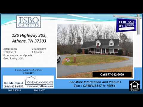 3 bedroom house for sale near Mcminn High School in Athens TN