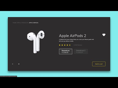 Apple Responsive E-Commerce Product Slider Page In HTML CSS JavaScript & Bootstrap 4 In Hindi 2020