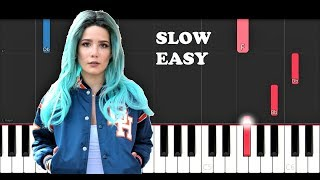 Halsey - Without Me (SLOW EASY PIANO TUTORIAL)