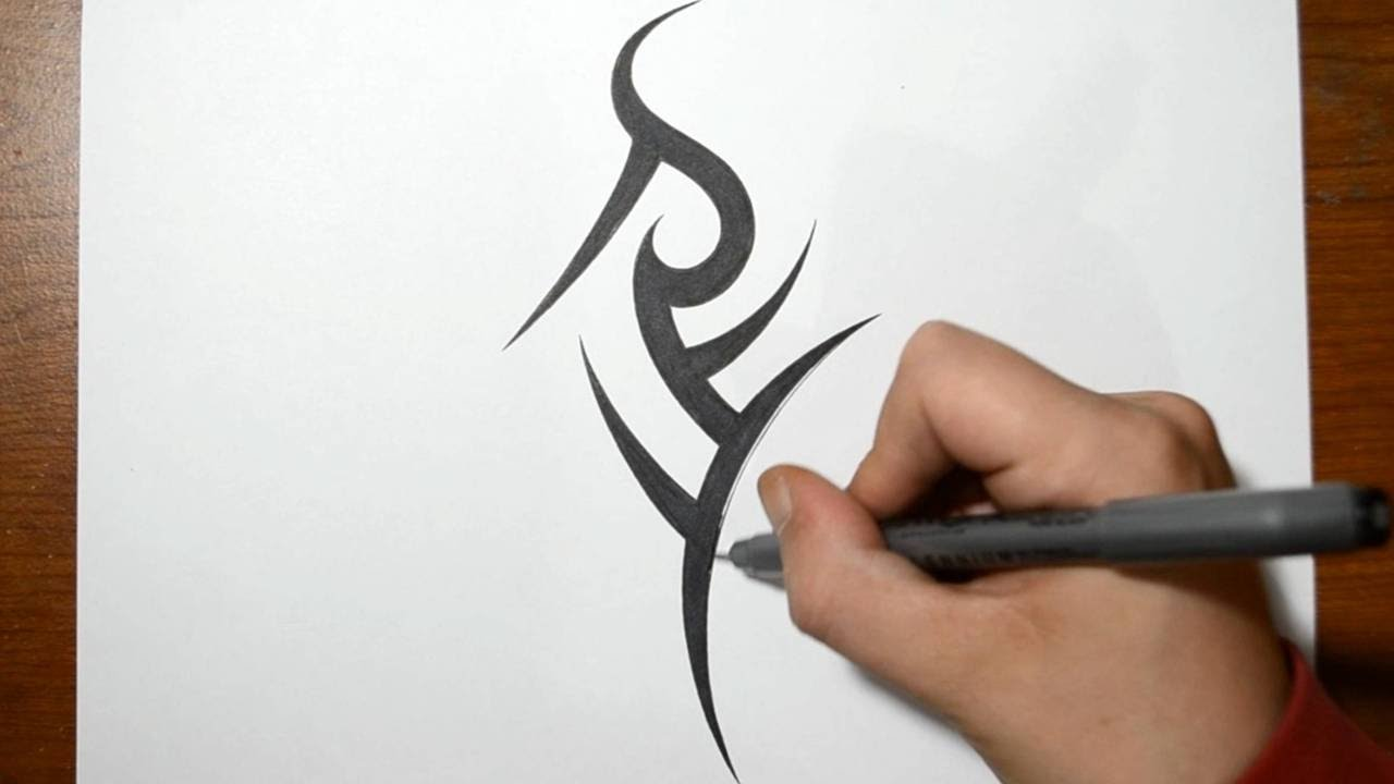 cae399942 Combining Initials in a Cool Simple Tribal Tattoo Design - REY - YouTube