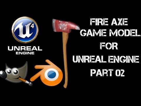 CREATE A FIRE AXE - PART 02 UV & TEXTURING