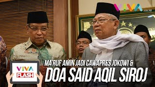 Kantor PBNU Bersorak Usai KH Ma'ruf Amin Jadi Cawapres Jokowi