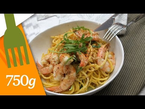 recette-de-spaghettis-aux-gambas---750g