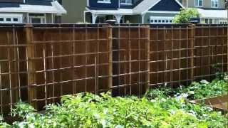 Building A Garden Trellis (45 Foot Long) - Part 2