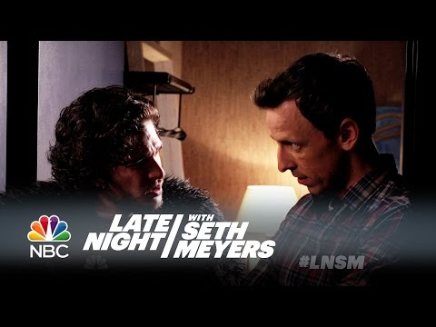 Seth Brings Jon Snow to a Dinner Party - Late Night with Set