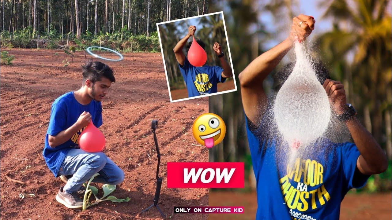 Balloon Splash🔥!! Water balloon photography | Creative Photography idea's 2021 | Capture kid