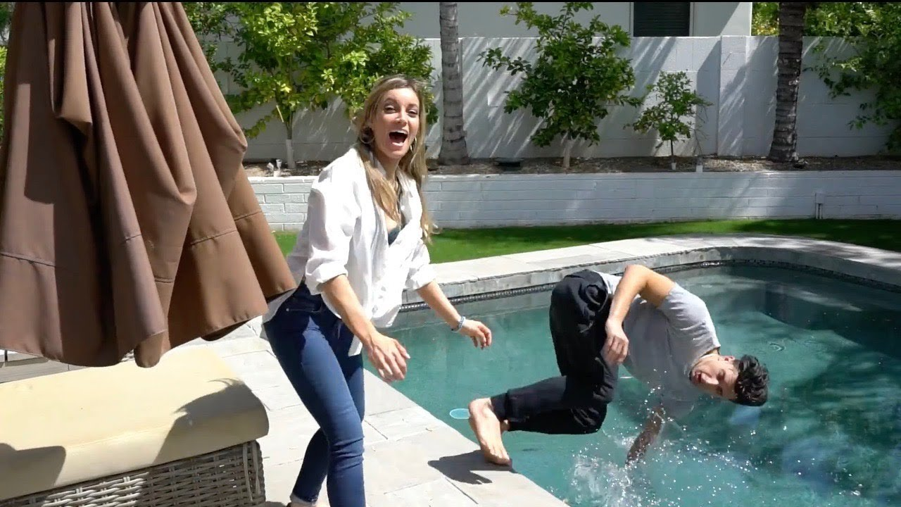 Christa speck pushed into pool — photo 10