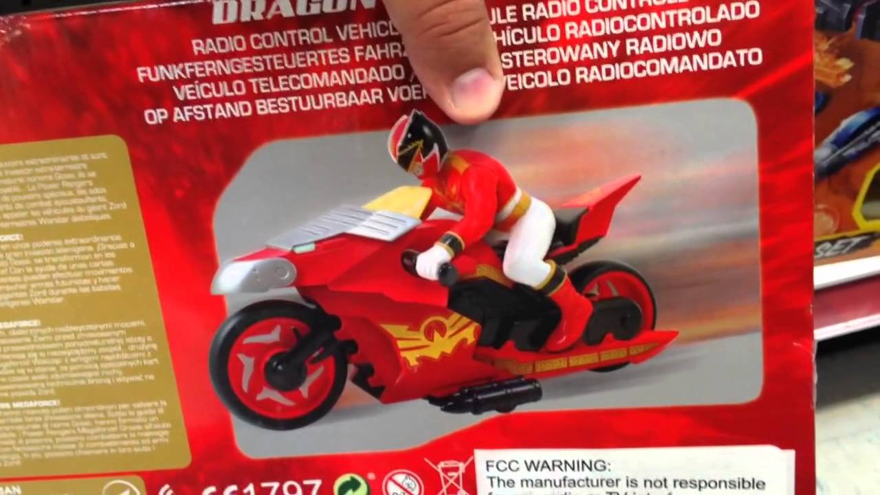 Power rangers megaforce dragon zord cycle rc power - Moto power rangers megaforce ...
