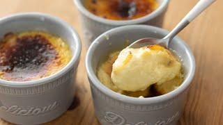 オーブンなしで作るチーズのクレームブリュレの作り方 Creme Brulee Fromage*No Oven HidaMari Cooking