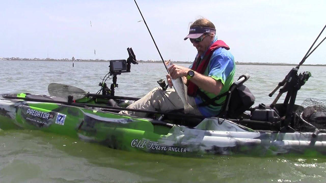 Shallow water kayak fishing in the predator 3xl youtube for Predator fishing kayak