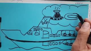 Vapur yazısından çizim