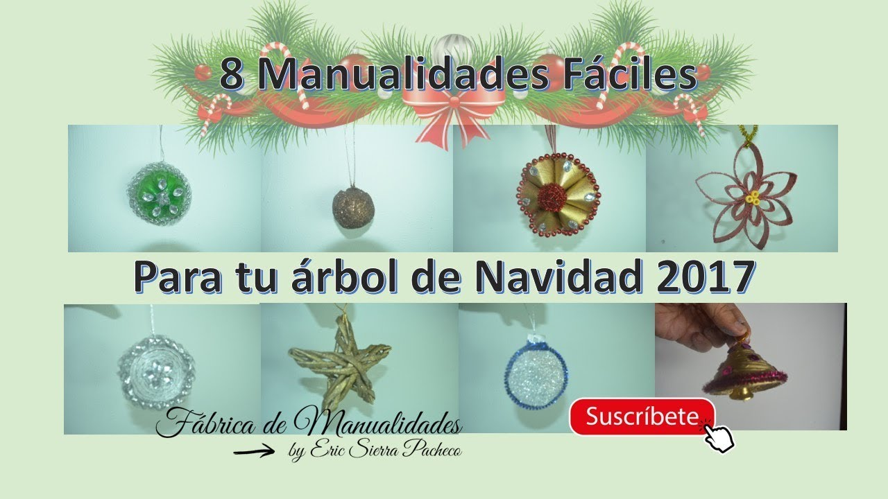 Adornos navide os 8 manualidades para tu rbol de navidad - Manualidades navidad 2017 ...