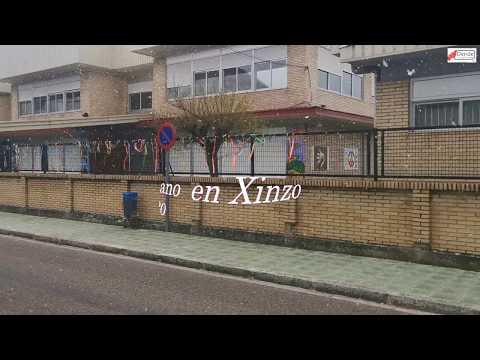 Primeira nevada do ano en Xinzo