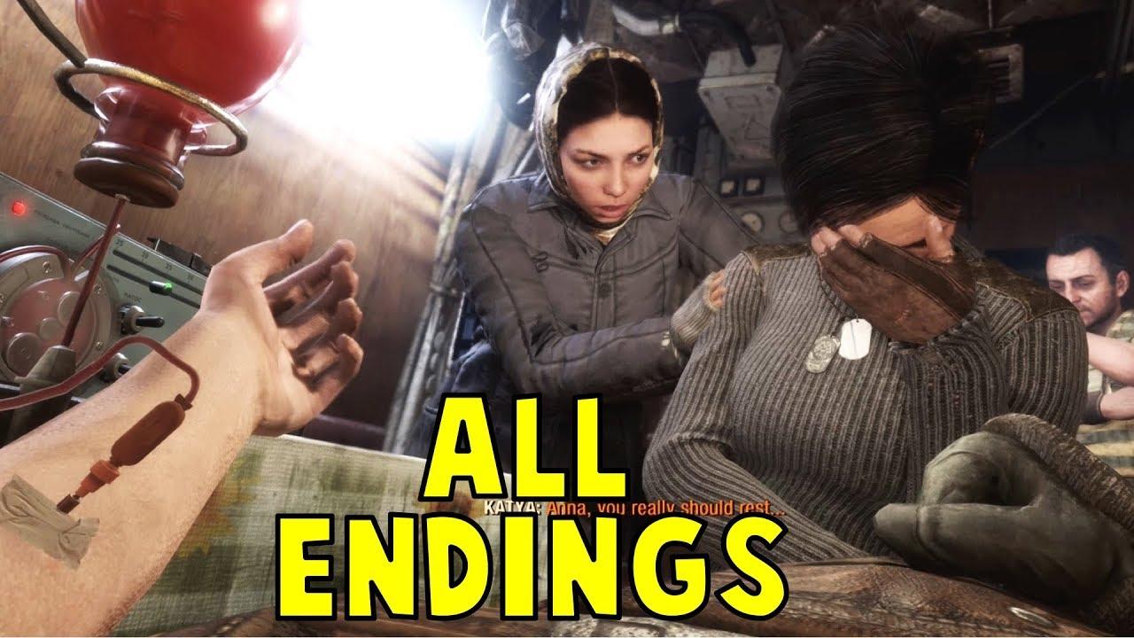 Metro Exodus - ALL ENDINGS (Good Ending + Bad Ending) [1080p HD] - Metro Exodus Game 2019