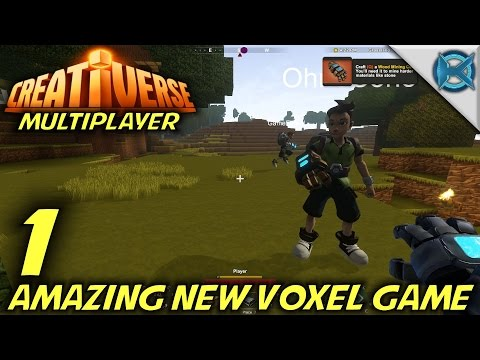 "Creativerse -Ep. 1- ""Amazing New Voxel Game"" -Multiplayer Let's Play Gameplay-(S2)"