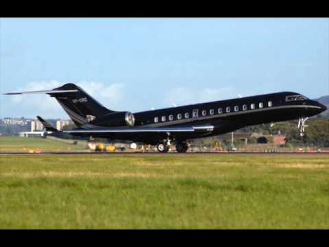BILL GATES 45 Million Dollar Private Jet THE Bombardier BD700 Global Expres