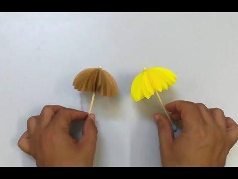 How to Make Paper Umbrellas - DIY colorful paper umbrellas easy