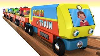 Toy Factory Power Train and Car Cartoons for Children Fun - Cartoon Kids Videos for Kids