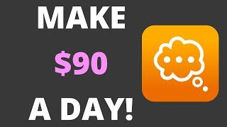 Do you want to know how make $90 a day by answering questions? in this video, i will show an app that allows money online giving your o...