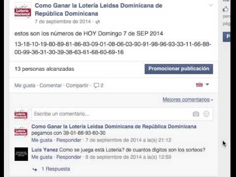 Ganar la loter 237 a leidsa dominicana de rep 250 blica dominicana youtube