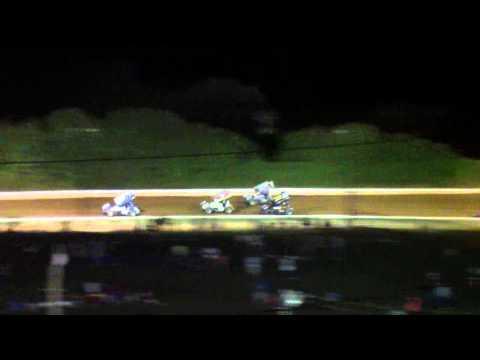 Port Royal Speedway 410 and 305 Sprint Car Highlights 8-10-13