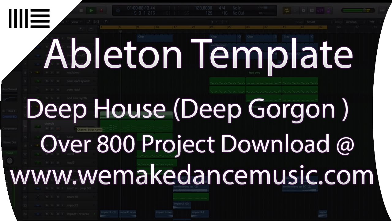 Deep house project ableton