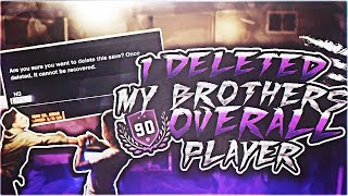 I DELETED MY BROTHERS 90 OVERALL PLAYER ! HE TRIED TO KNOCK ME OUT ! PRANK GONE WRONG