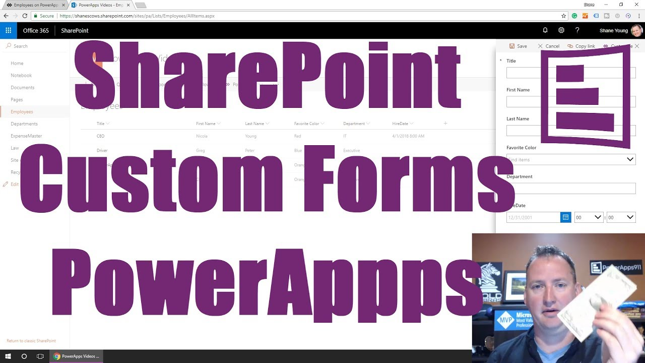Custom SharePoint List Form with PowerApps