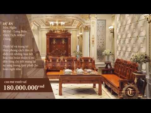 tancodien.com - Biệt thự tân cổ điển 2 tầng sang trọng và lộng lẫy tại Đồ Đề Long Biên