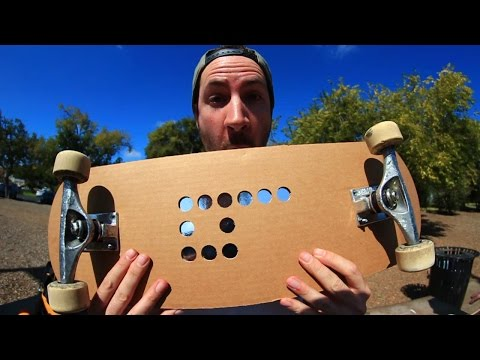 CARDBOARD SKATEBOARD | YOU MAKE IT WE SKATE IT EP 33