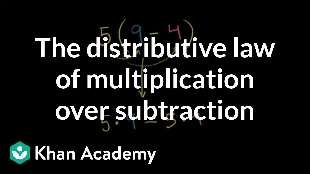 Distributive property over subtraction (video) | Khan Academy