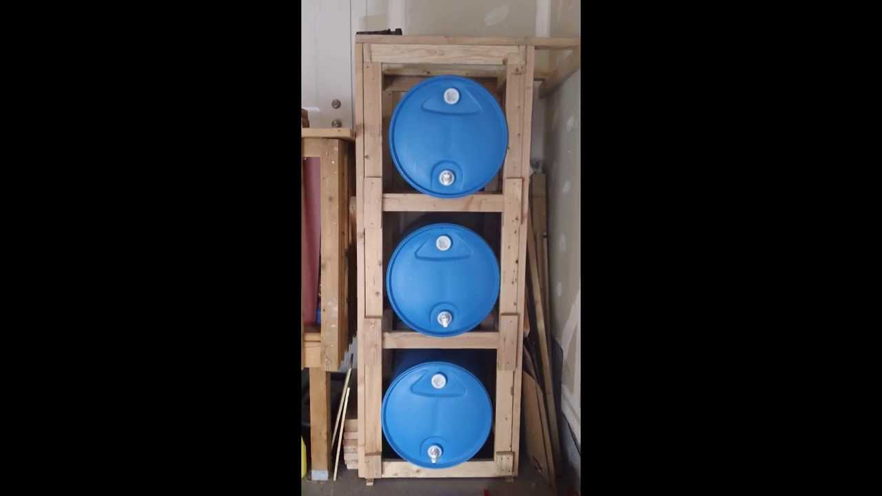 3 Tier 55 Gallon Water Storage Youtube