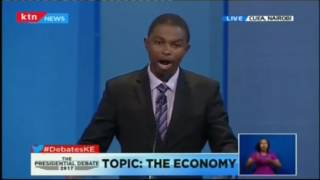 """""""We intend to cut taxes, but increase the tax bracket..."""" Running mate Muthiora Kiriara"""