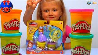 ✔ Кукла София - Принцесса и Плей До от Ярославы / Sofia the first Disney Princess Play Doh / VLOG