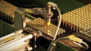 هل تخيلت كيف يتم تصنيع رصاص الاسلحة !شاهد بنفسك