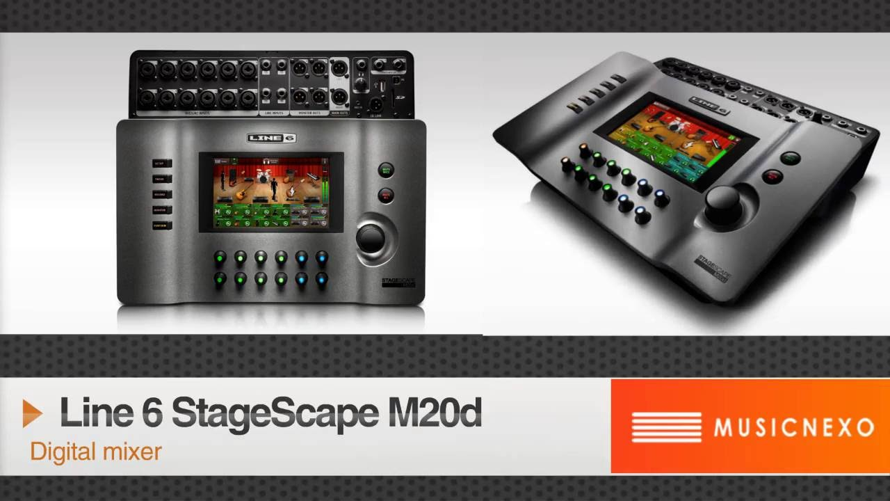 line 6 stagescape m20d digital mixer youtube. Black Bedroom Furniture Sets. Home Design Ideas