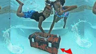 WE FOUND AN ABANDONED MYSTERY BOX IN OUR SWIMMING POOL!