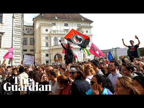Protests in Vienna after secret footage of far-right politician Strache released